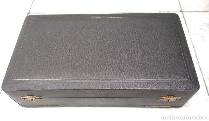 Antigüedades: Juego de tocador Set de 6 piezas, plata de ley siglo XIX - Foto 16 - 178668587