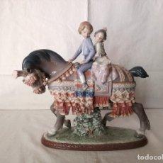 Antigüedades: FIGURA DE PORCELANA DE LLADRO, NIÑOS VALENCIANOS A CABALLO.. Lote 178684221