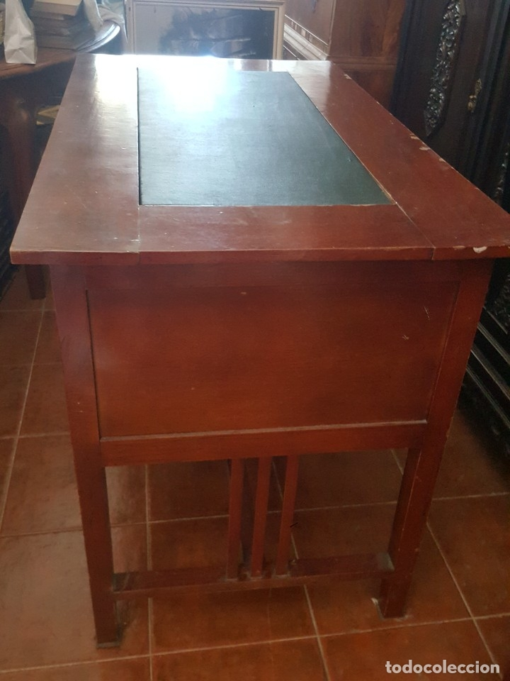 Antigüedades: Mesa de despacho modernista para restaurar. - Foto 5 - 178708836
