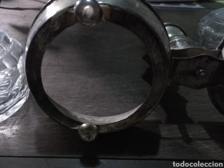 Antigüedades: Vinagrera y aceitera ,cristal tallado - Foto 6 - 178715042