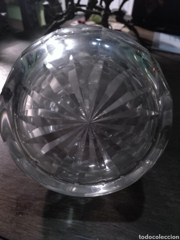 Antigüedades: Vinagrera y aceitera ,cristal tallado - Foto 7 - 178715042