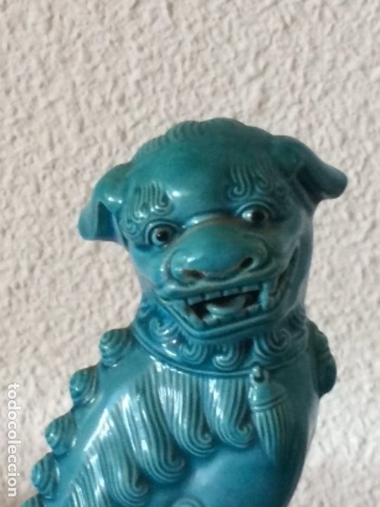 Antigüedades: FIGURA PORCELANA CHINA PERRO DE FO - Foto 2 - 178715967