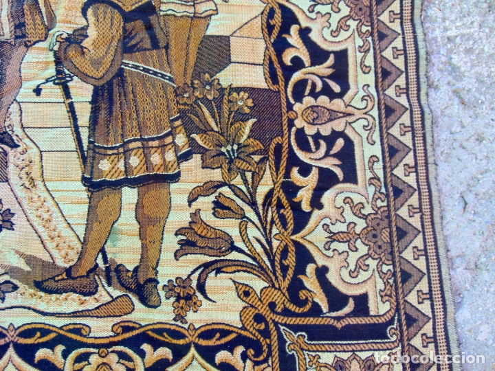Antigüedades: TAPIZ TIPO ESTANDARTE, GRANDE 2,97M X 1,22 M, VER FOTOS .W - Foto 3 - 178716493