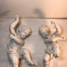 Antigüedades: 2 FIGURAS PORCELANA-ESPAÑA- ALGORA - ÁNGELES. Lote 178720803