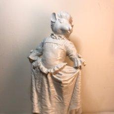 Antigüedades: FIGURA PORCELANA- ESPAÑA- ALGORA - RATITA BAILE- 28,50 CM. Lote 178721001