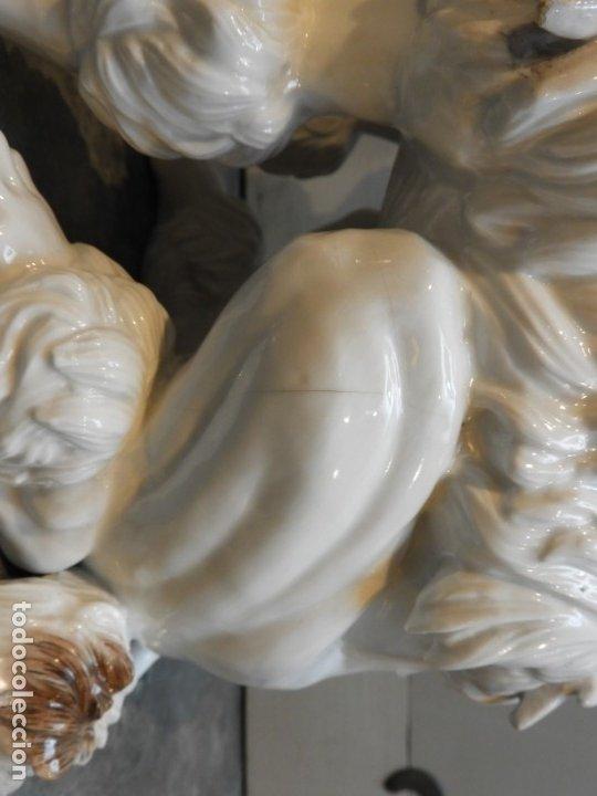Antigüedades: PERRO CANICHE DE PORCELANA DE ALGORA - Foto 9 - 178732192