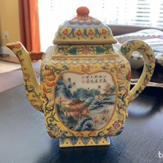 Antigüedades: BONITA TETERA CHINA. Lote 178745686