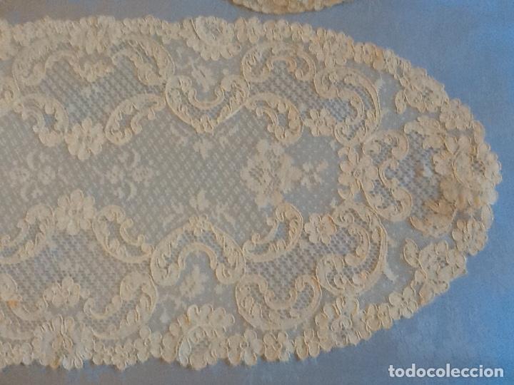 Antigüedades: Preciosos tapetes de Alencon juego de tres - Foto 2 - 178747011