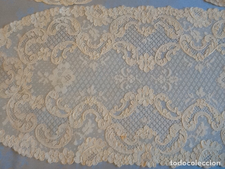 Antigüedades: Preciosos tapetes de Alencon juego de tres - Foto 3 - 178747011