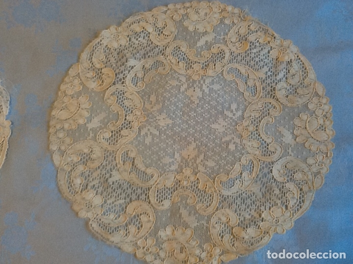 Antigüedades: Preciosos tapetes de Alencon juego de tres - Foto 5 - 178747011
