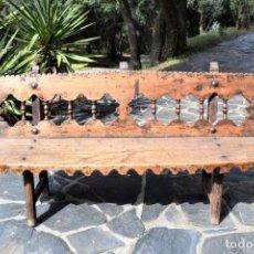 Antigüedades: BANCO ANTIGUO DE MADERA. Lote 178748941