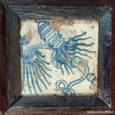 Antigüedades: AZULEJO GÓTICO. CERÁMICA ESMALTADA. VALENCIA. ESPAÑA. SIGLO XVI. . Lote 178751107