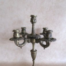 Antigüedades: ANTIGUO CANDELABRO BRONCE PARA 5 VELAS 38 CM. Lote 56394515
