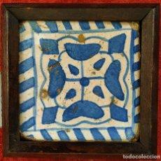 Antigüedades: AZULEJO GÓTICO. PROCEDENTE DEL MONASTERIO DE POBLET. CERÁMICA. ESPAÑA. XVI-XVII. Lote 178775543
