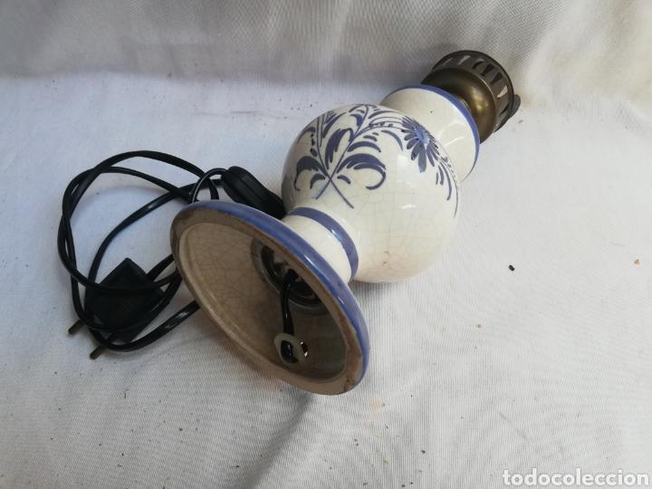 Antigüedades: LÁMPARA SOBREMESA TIPO QUINQUE EN OPALINA Y METAL . SIN TULIPA. FUNCIONA. - Foto 5 - 178778417