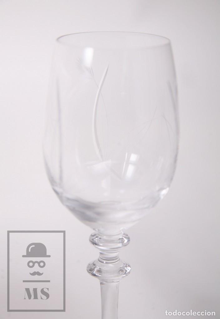 Antigüedades: Conjunto de Cristal de Bohemia con 38 Piezas / Copas - Cristalería Tallada - Marca Grabada al Ácido - Foto 22 - 178783517