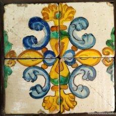Antigüedades: CONJUNTO DE AZULEJOS BARROCOS. CASA DE CONVALESCENCIA DE BARCELONA. CATALUNYA. ESPAÑA. XVII. Lote 178786775