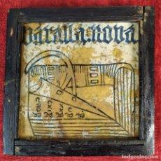 Antigüedades: AZULEJO GÓTICO. CON ADAGIO. CERÁMICA ESMALTADA. VALENCIA. ESPAÑA. SIGLO XV-XVI. Lote 178795196