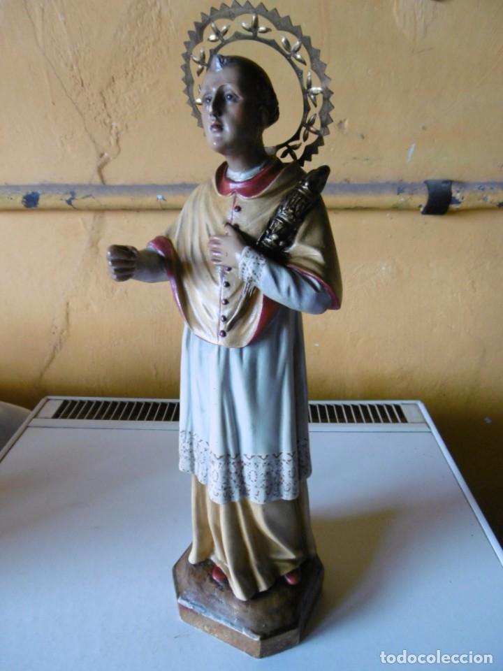 Antigüedades: SAN RAMÓN NONATO, FIGURA 40,7 CMS. OLOT. - Foto 2 - 49131109