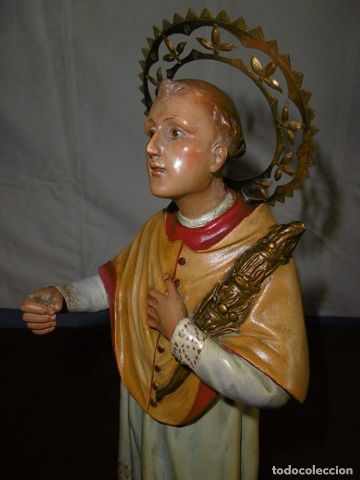 Antigüedades: SAN RAMÓN NONATO, FIGURA 40,7 CMS. OLOT. - Foto 5 - 49131109