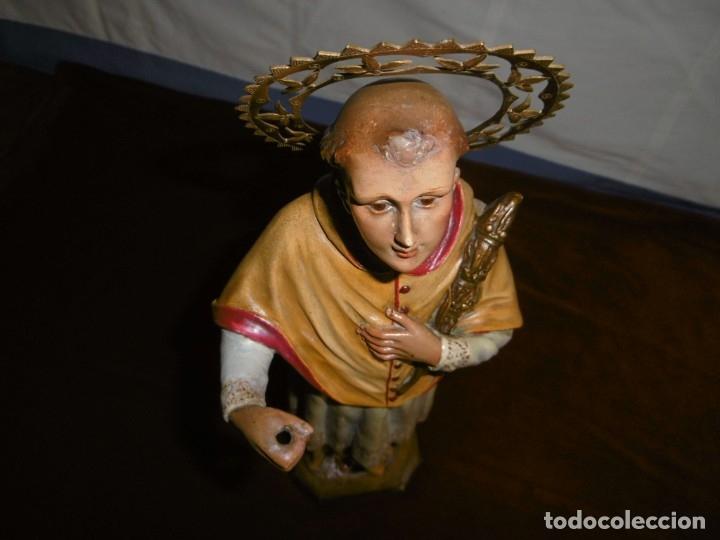 Antigüedades: SAN RAMÓN NONATO, FIGURA 40,7 CMS. OLOT. - Foto 6 - 49131109