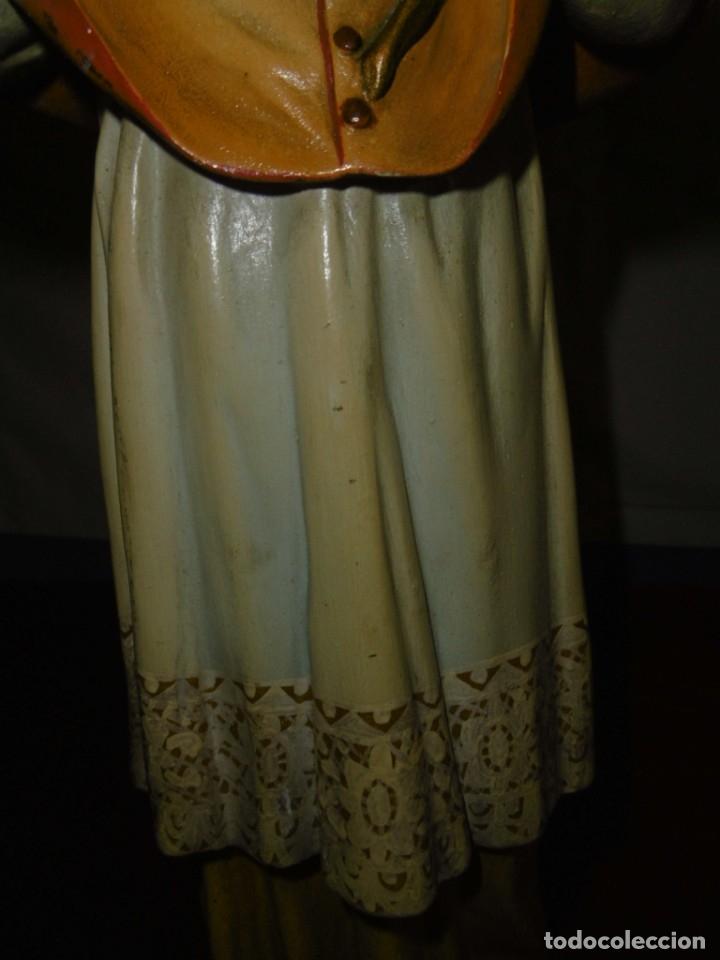 Antigüedades: SAN RAMÓN NONATO, FIGURA 40,7 CMS. OLOT. - Foto 10 - 49131109