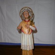 Antigüedades: SAN RAMÓN NONATO, FIGURA 40,7 CMS. OLOT.. Lote 49131109