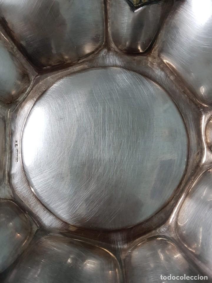 Antigüedades: FRUTERO PANERA. INSCRITO M. E. MN PLATEADO. 27 CM. DECORADA. - Foto 2 - 178804792