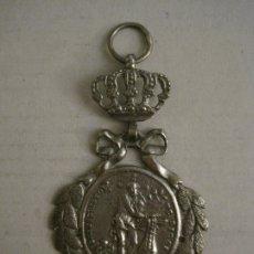 Antigüedades: MEDALLA ANTIGUA ORIGINAL SANTO CRISTO DE RIBAS-CORONA REAL-VER FOTOS-(V-17.663). Lote 178806748