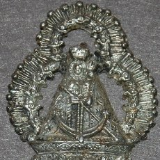 Antigüedades: APLIQUE DE METAL VIRGEN DE LA CABEZA. Lote 178824875
