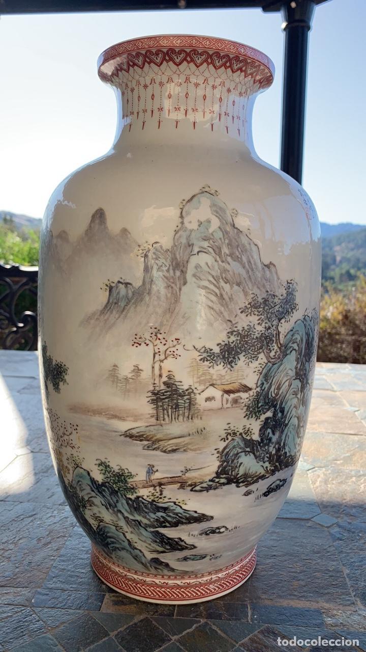 Antigüedades: Bonito Jarron Chino Porcelana China - Foto 2 - 178832537
