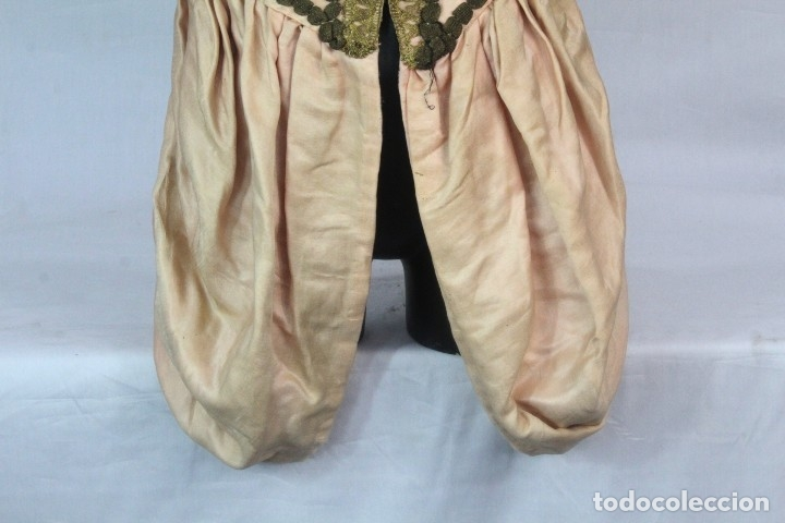 Antigüedades: t9 Sobreveste SXVIII o chaquetilla en seda hilos de oro encajes. Museos, indumentaria o imágenes. - Foto 3 - 178840315