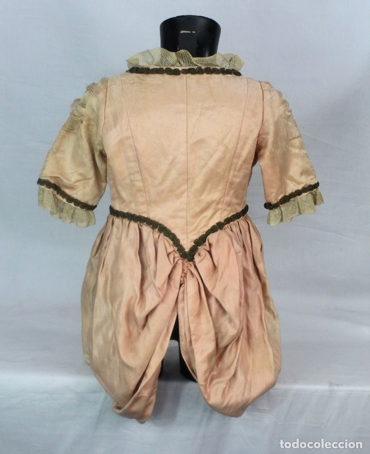 Antigüedades: t9 Sobreveste SXVIII o chaquetilla en seda hilos de oro encajes. Museos, indumentaria o imágenes. - Foto 8 - 178840315