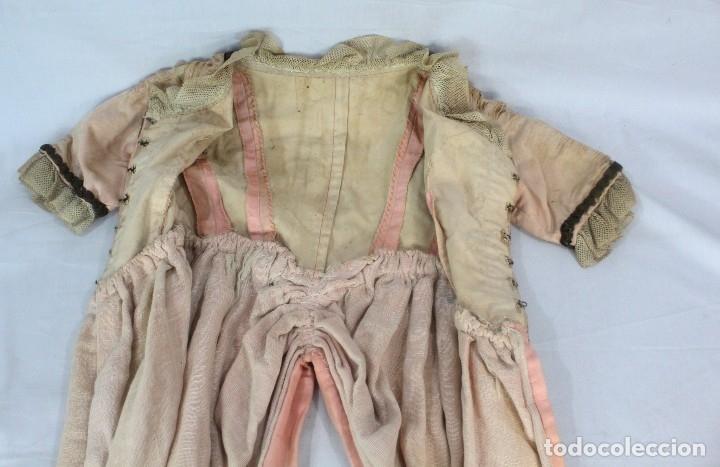 Antigüedades: t9 Sobreveste SXVIII o chaquetilla en seda hilos de oro encajes. Museos, indumentaria o imágenes. - Foto 11 - 178840315