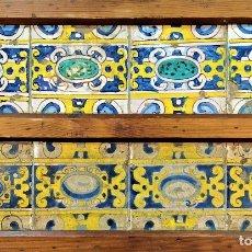 Antigüedades: CONJUNTO DE AZULEJOS BARROCOS. CERÁMICA ESMALTADA. CATALUNYA. ESPAÑA. SIGLOS XVII-XVIII. Lote 178853323