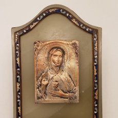 Antigüedades: PILA AGUA BENDITA ONIX Y ESMALTE CLOISONNE, FINAL SIGLO XIX, (L. DE HELLY). Lote 178860835