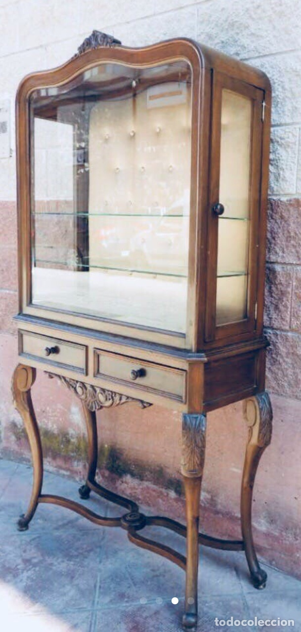 Antigüedades: Mueble cristalera Luis XV - Foto 3 - 178869143