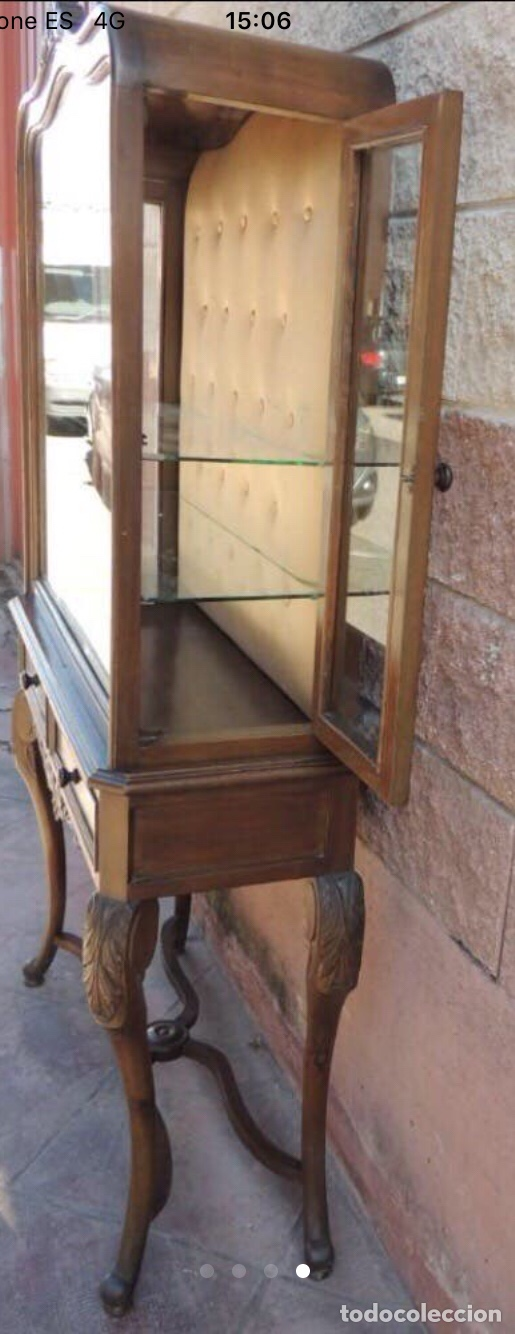 Antigüedades: Mueble cristalera Luis XV - Foto 4 - 178869143
