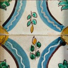 Antigüedades: AZULEJOS ESTILO BARROCO. CERÁMICA ESMALTADA. CATALUNYA. ESPAÑA. XVIII-XIX. Lote 178873677