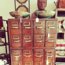 Antiquités: CAJONERA INGLESA DE ROBLE C. 1920'S. Lote 178877170