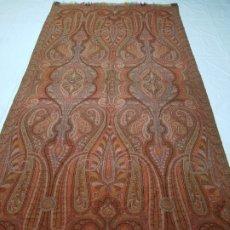 Antigüedades: ANTIGUO MANTON DE LANA 330X162CM. Lote 178880885