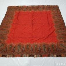 Antigüedades: ANTIGUO MANTON DE LANA 167X165CM. Lote 178882247