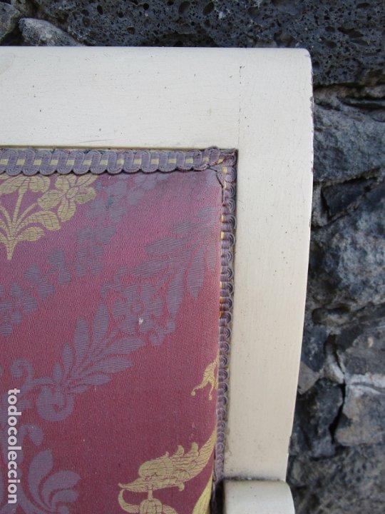 Antigüedades: Antiguo Sofá Estilo Imperio - Tresillo Dos Plazas - Madera de Caoba - Laca Blanca - Bronce - Años 20 - Foto 10 - 178895903