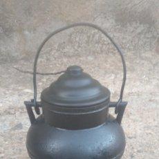 Antigüedades: POTE ANTIGUO DE HIERRO.. Lote 178900597