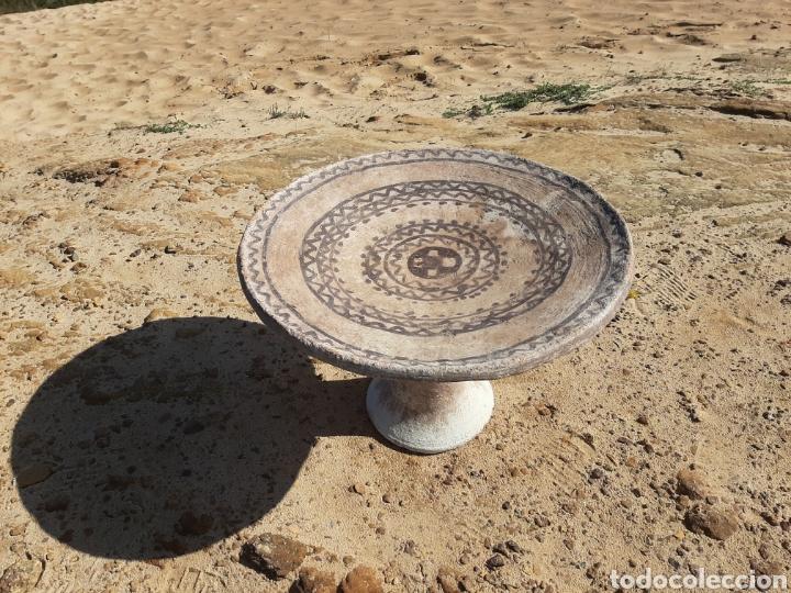 Antigüedades: MESA BEREBER DE CERÁMICA - BARRO - SUPERFICIE PINTADA - DECORACIÓN GEOMÉTRICA -ÁFRICA -SXIX - Foto 6 - 178910731