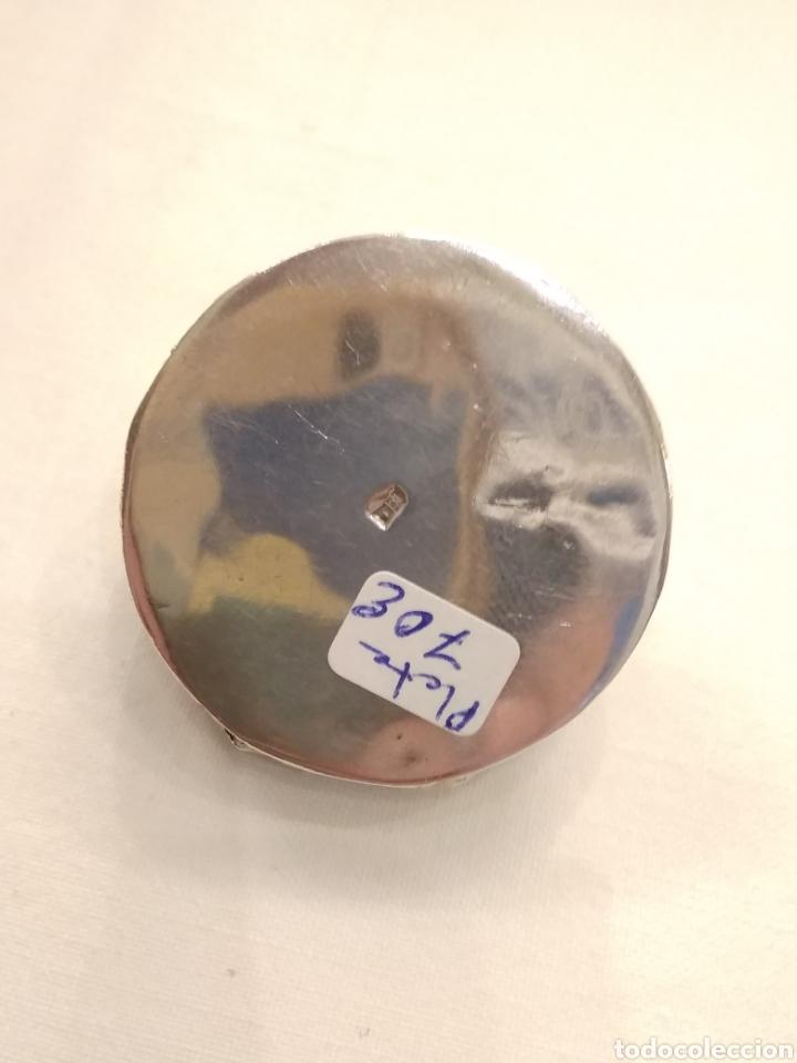 Antigüedades: Cajita pastillero plata de ley siglo XX - Foto 5 - 178923006