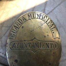 Antigüedades: PLACA DE GUARDA DE CAZA DE MEJORADA. Lote 178928457
