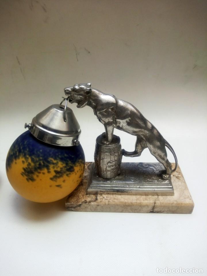 Antigüedades: Pareja de lámparas art deco. - Foto 3 - 178943097