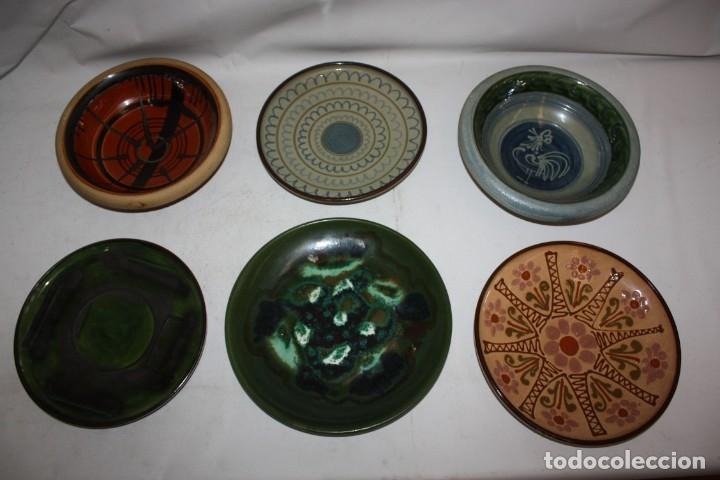 LOTE DE 6 PLATOS EN CERAMICA DE VILA CLARA (LA BISBAL). MEDIADOS DEL SIGLO XX (Antigüedades - Porcelanas y Cerámicas - La Bisbal)