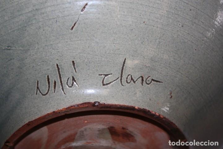 Antigüedades: LOTE DE 6 PLATOS EN CERAMICA DE VILA CLARA (LA BISBAL). MEDIADOS DEL SIGLO XX - Foto 11 - 178943711